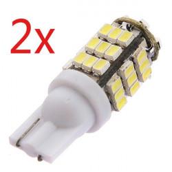 2 x T10 3W 6000K 264 Lumen 42x3020 SMD LED Auto Weiß Glühlampen 12V