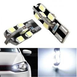 2 X T10 Canbus 168 194 2825 W5W 12 LED 5630 SMD Bulb Vit 250LM