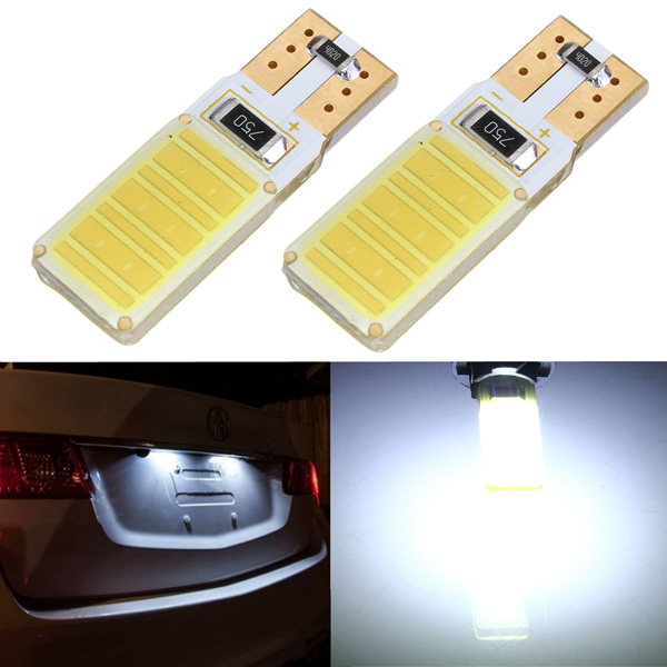 2 x T10 W5W 194 COB Canbus Error Free White LED Light Bulbs Car Lights