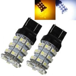 2 X T20 7440 3528 SMD 60 LED Xenon Blinklys Løg + Resisters