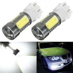 2 x White 3156 3157 T25 4 COB 1 CREE SMD LED 11W Light Braks 12V