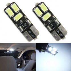 2 x Weiß T10 168 194 W5W Wedge 4SMD 5630 LED Auto Glühlampen