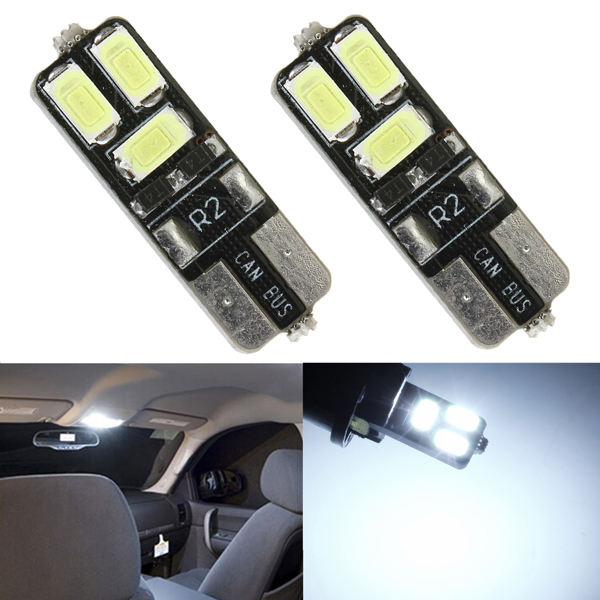2 x Weiß T10 168 194 W5W Wedge 4SMD 5630 LED Auto Glühlampen Autobeleuchtung