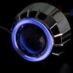 3.0HQT 5st Projektor Linser Double Angle Eye Plast Bilbelysning
