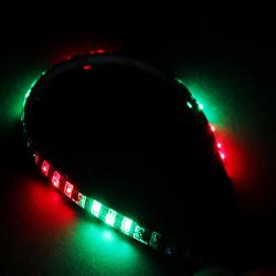 30cm 27 SMD Bil LED Strobe Flash Dekoration Strip Flexibel Ljus