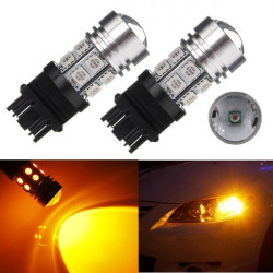 3156 3157 High Power 10W Q5 12 SMD 5050 Amber Stop Tail Light Bulb