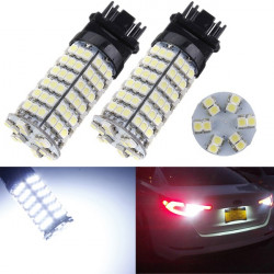 3157 3528 120-SMD LED 12V Car Xenon Light 6000K White Reversing Lights