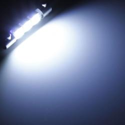 31mm 3 SMD 5050 LED-lampa Bil Makeupspeglar Solskydd Lampa