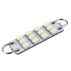 3528 43mm 12 SMD weiße Rigid Loop Auto LED Tür Licht Lampe