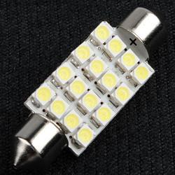 39mm 16 LED SMD Spollampor Taklampa Bil Bulb Xenon Vit