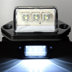 3Led White License Number Plate Lights Truck Tail Trailer Lamp