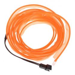 3 Meter Bil EL Wire Neon Orange Glow Ljus med Billaddare