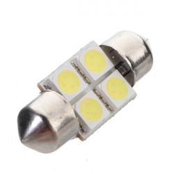 4 SMD LED weiß 31mm HINTEN Leuchte Birnen 5050 SUPER BRIGHT