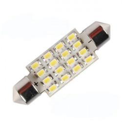 41mm 16 LED SMD Spollampor Taklampa Bil Bulb Xenon Vit