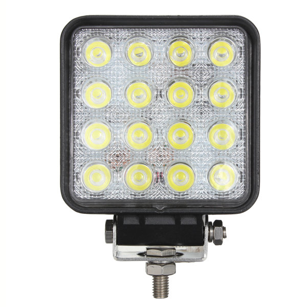 48W 16LED Spot work Lamp Light For Trailer Off Road Boat 2V 24V Car Lights