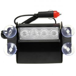 4 LED Emergency Bil Vindruta Sucker Varning Strobe Ficklampor