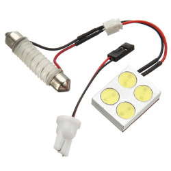 4 SMD LED Car Light High Power Car Lamp with Dome Light Adapters
