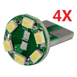 4X Auto T10 194 WEDGE SMD 6 LED HID weiße Glühlampe 12V