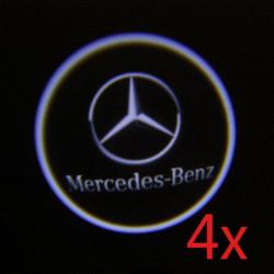 4 X Cree LED Supercool Bildörr Laser Välkommen Lampor för Benz