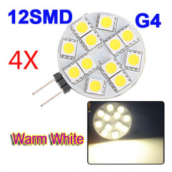 4XG4 warmes Weiß 12 SMD 5050 LED Auto RV Marine 160º Glühlampe DC 12V