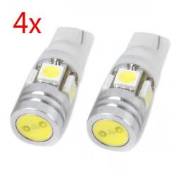 4 X T10 12V 4W 160LM 5 5050 SMD LED Licht Auto Lampen Auto Birnen Weiß