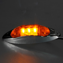 4x12V LED Amber Trailer Truck Sealed Light Side Marker Clearance Lamp