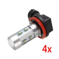 4xH11 LED SMD CREE 50W Car Lamp Bulb Fog Light Lumiere Phare 12V