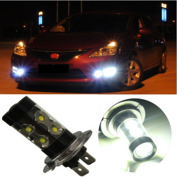 50W H7 Car Cree LED Driving Fog Light Daytime DRL Head Lamp