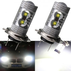 50W H7 LED Fog Driving Daytime Running Headlight Lamp Bulb DRL