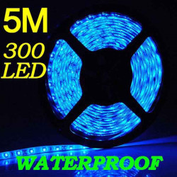 5M 300 LED 3528 SMD Blue Flexible Strip Light Car Auto