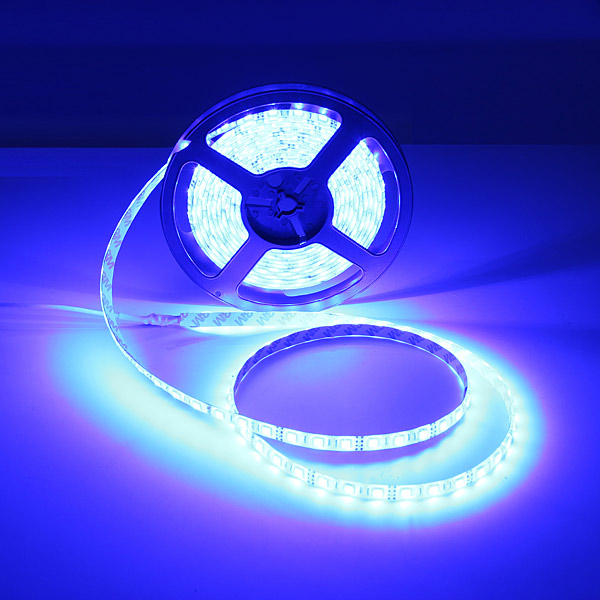5M 300 LED 5050 SMD RGB LED-Slinga Vattentät +24 Knappar Fjärrkontroll Bilbelysning