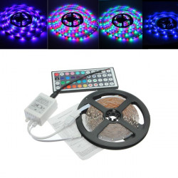 5M 300LED RGB 3528 LED Light Strip+44 Key IR Remote Controller 12V 2A