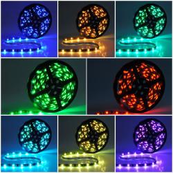 5M Flexible LED Light Strips Waterproof + 24 Key Remote Control