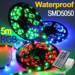 5M Vattentät RGB SMD Flexibel Lampa LED-Slinga 44 Nyckel IR Fjärrkontroll