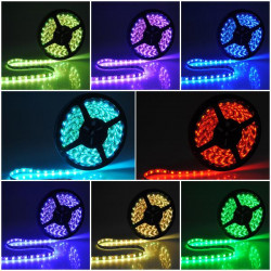 5M Waterproof RGB SMD Flexible Lamp Strip Light +44 Key IR Remote