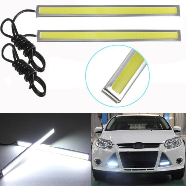 5W 12V LED COB Bil Fordon DRL Driving DRL Lamp Dimljus Ljus Bilbelysning