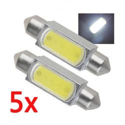 5 x 39mm 2W High Power LED Girlande Auto Innenbeleuchtung Weiß 12V