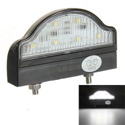 6 LEDs Nummerpladelys Trailer Lastbil Båd Lamp E-mærket