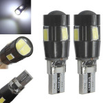 6X T10 W5W Bulb 5630 High Power 6 SMD 6500K Canbus LED Light Lamp Car Lights