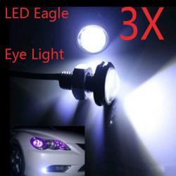 6x3W Hvid LED Eagle Eye Daytime Running DRL Lys Tail Backup Lamp