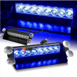 8 LED Super Strobe Flash Light Dash Emergency 3 Flashing Modes