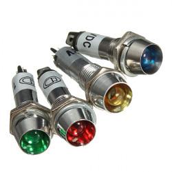 8mm LED Armaturenbrett Warnanzeige Signal Licht Lampe 12V