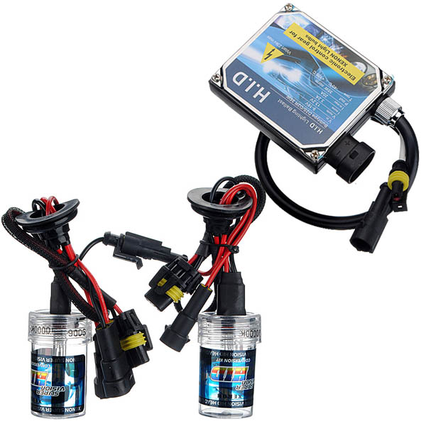 9006 10000K 35w Lamp Bulbs HID Xenon Kit + Slim Blaster Set Car Lights