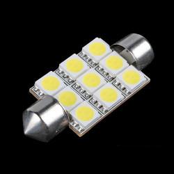 9 SMD LED Festoon Dome Car Bulb Light Lamp 12v 42mm