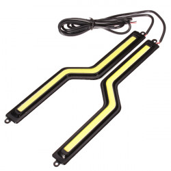 A Pair of COB LED Daytime Running Light Z Type High Power
