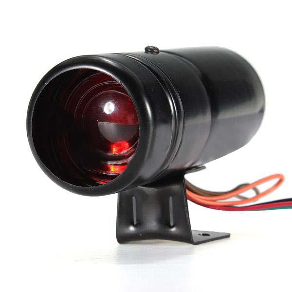 Justerbar Varvräknare RPM Tacho Mätare Shift Ljus Röd Lysdiod Universal Bilbelysning