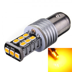 BAY15d 1157 2835 15W Positionslygte Stop Tail Gul LED Lys