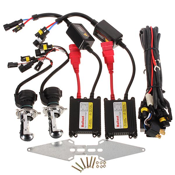 Bi-Xenon Dual Beam HID Kit Slim Ballast H4 6000K 35W Car Lights