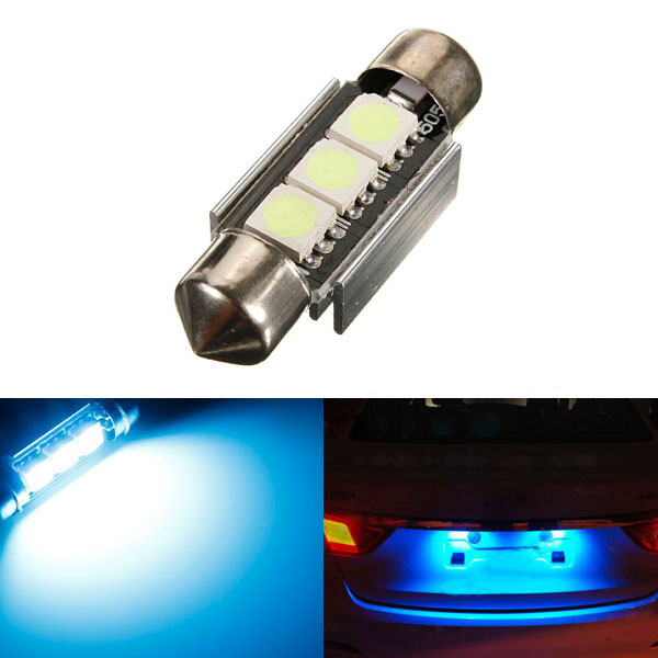 Canbus Fejl Free 3 SMD LED Bil Nummerpladelys Lys Bulb Bilbelysning
