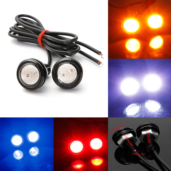 Car 10W LED Eagle Eye Light Daytime Running Backup Lamp 12V Car Lights